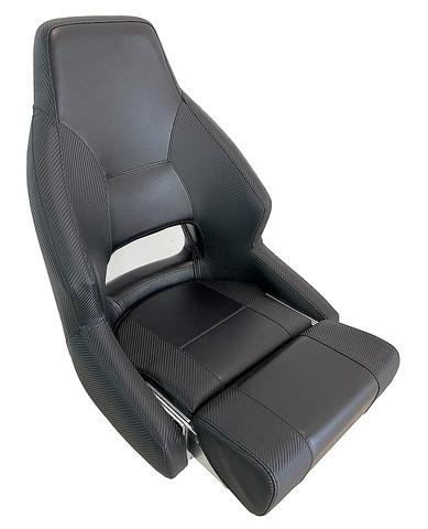 Кресло с болстером «Racer carbone», черный