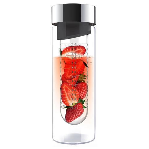 Бутылка Asobu Flavour it (0,6 литра), серая