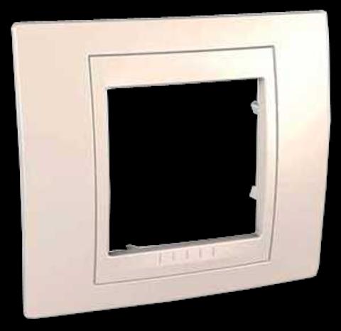 Рамка на 1 пост. Цвет Бежевый. Schneider electric Unica Хамелеон. MGU6.002.25