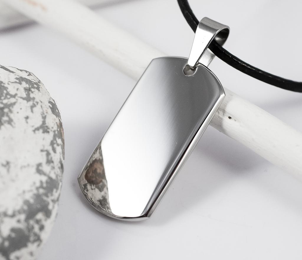 SSP-8590 Мужской жетон для гравировки из стали, «Spikes»