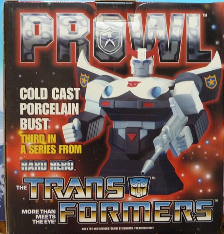 Prowl Transformers bust by Hard Hero