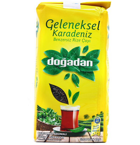 Турецкий черный чай с бергамотом Karadeniz, Dogadan, 500 г
