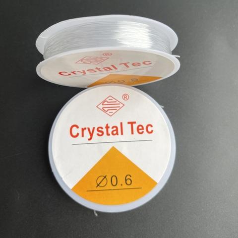 Спандекс резинка 0,6 мм - силиконовая нить-прозрачный
