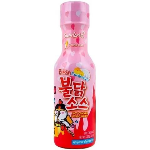 Корейский соус Samyang Buldak Carbo Hot Chicken Flavour Sauce о вкусом жареной курицы острый 200 гр