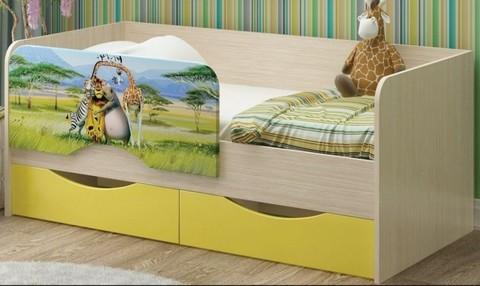 Детская кровать Юниор-12 МДФ Мадагаскар, 80х160