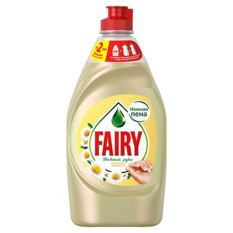 Средство для мытья посуды Fairy Нежные руки Ромашка и витамин E 450 мл