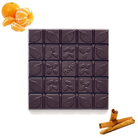 шоколад на меду с мандарином и корицей