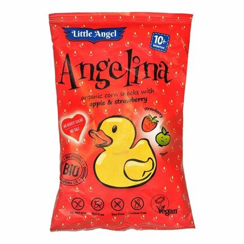 Литл Ангел, Ангелина - Органические кукурузные снеки с яблоком и клубникой 30гр