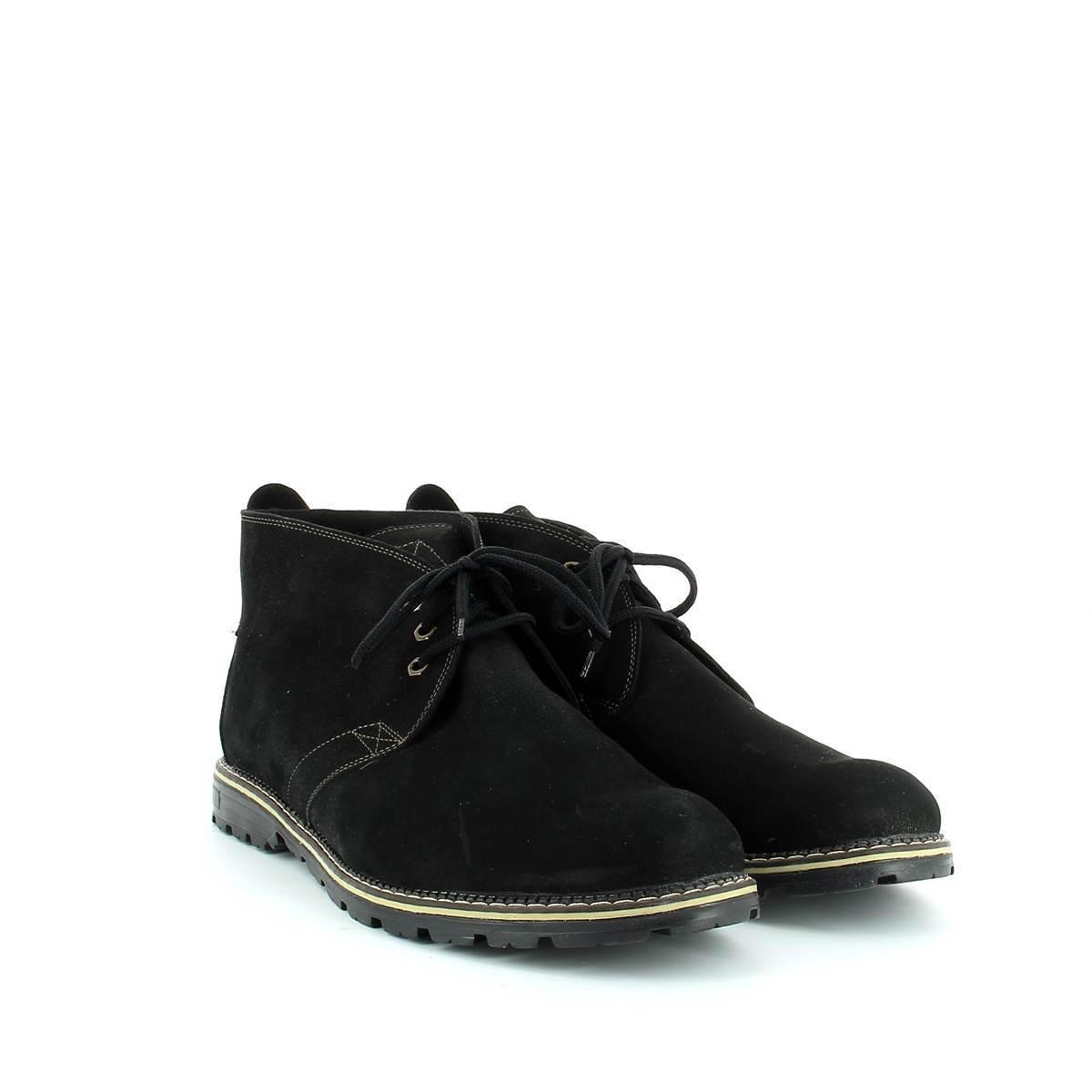 564483 ботинки мужские черные байка больших размеров марки Делфино