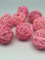Шар плетеный, ротанг, 1 шт, 4-5 см.