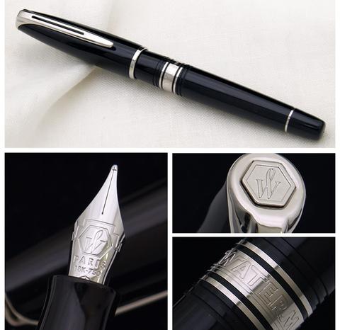 *Перьевая ручка Waterman Charleston, цвет: Black/CT, перо: F (13011 F)123