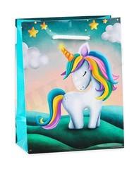 Пакет подарочный Очаровательный единорог 11.5x14.5x6 см, 1шт.