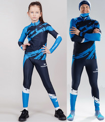 Детский Раздельный лыжный гоночный комбинезон NordSki Premium Deep Blue 2020