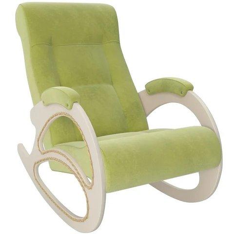 Кресло-качалка Комфорт Модель 4 дуб шампань/Verona Apple Green