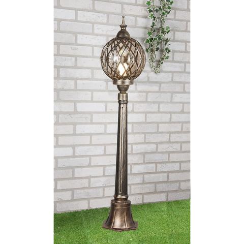 Sirius F черное золото уличный светильник на столбе IP44 Sirius F