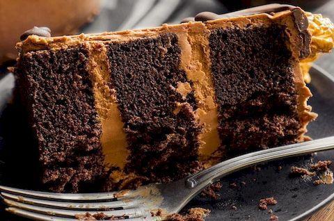 Шоколадный торт без глютена с кремом внутри (этот торт можно приготовить по безлактозной технологии, без молока и без сахара)