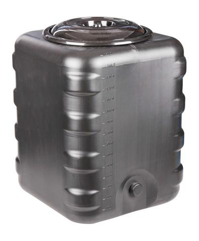 Бак для душа 150л квадратный чёрный М6463