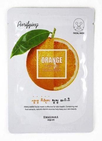 Очищающая тканевая маска Welcos Kwailnara Orange Purifying Facial Mask