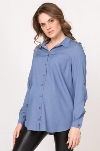 Рубашка для беременных 10788 голубой