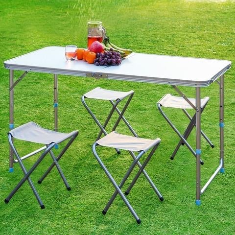 Портативный складной стол и 4 стула
