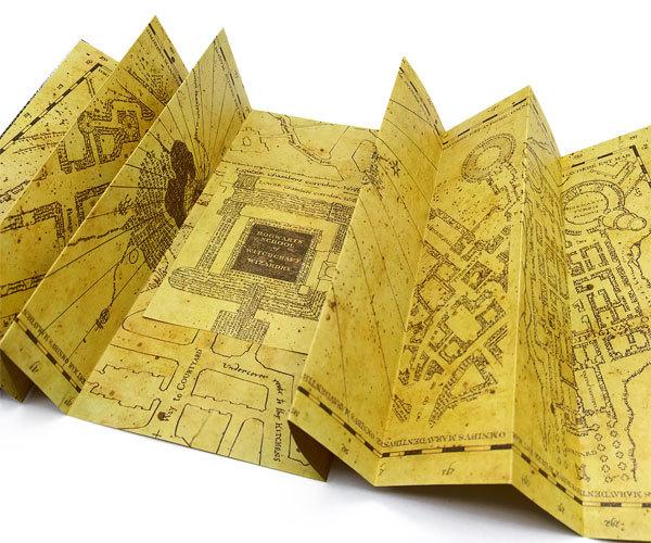 карта Мародёров из Гарри Поттера