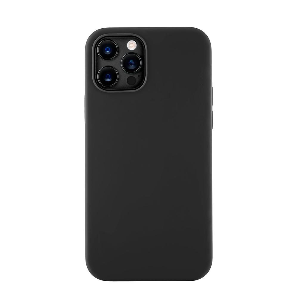 Чехол Leather Case для iPhone 12 Pro Max (Все цвета) черный.jpg