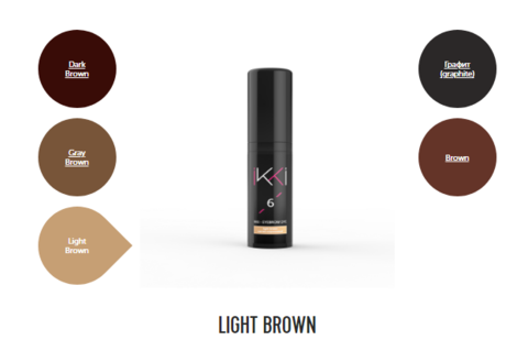 Гель-краска для бровей IKKI во флаконе (№6 светло-коричневый) 5мл