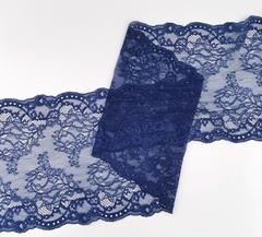 Эластичное кружево, ОПТ, 22 см, темно-синее, м, (Арт: EK-2286), м