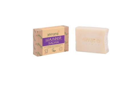 Levrana, Натуральное мыло ручной работы Шалфей, 100гр