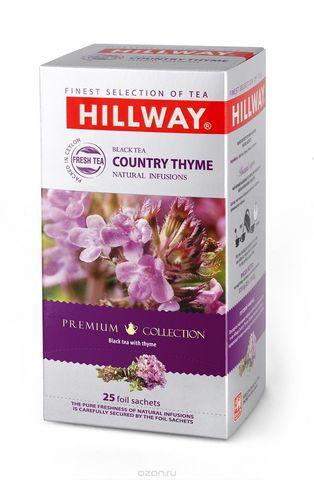 Hillway Country Thyme  чёрный чай с чабрецом конверты 25 шт* 1,5 гр.
