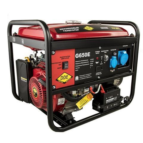Генератор бензиновый DDE G650Е (1ф 6,0/6,5 кВт бак 25 л 88 кг дв-ль 14 л.с. элстарт) (917-439)