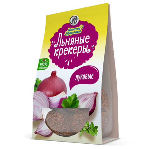 Компас здоровья Льняные крекеры с луком 50 г
