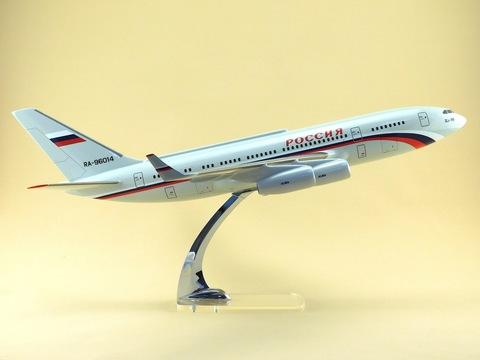 Модель самолета Ил-96-300ПУ (М1:100, СЛО Россия)