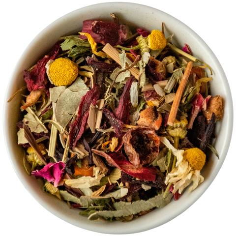 Травяной чай с листом малины и мятой