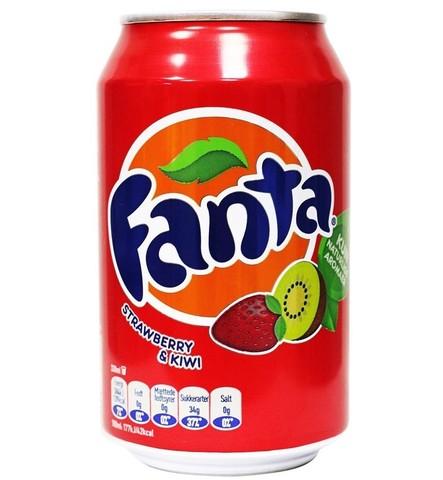 Fanta Strawberry Kiwi Фанта Клубника Киви 0,330 л