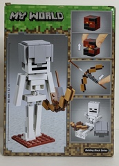 Майнкрафт 11168 Скелет с кубом магмы 142д Конструктор
