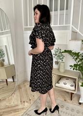 Сесіль. Романтична весняна сукня. Чорні квіти