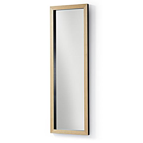 Зеркало Drop 48x148 черное