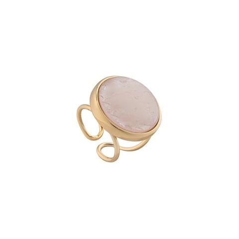 Кольцо Pearl Quartz Rose 16.5 мм K0948.9 R/G
