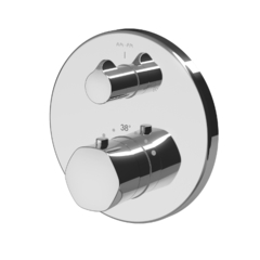 Смеситель для ванны и душа AM.PM GEM F9085500 монтируемый в стену с термостатом