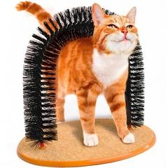 Когтеточка для кошек «Кошачье удовольствие» со щеткой