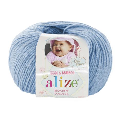 Пряжа Alize Baby Wool светло-голубой 350
