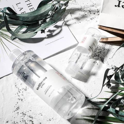 Очищающая вода для снятия макияжа Wellderma G Plus Moisturizing Cleansing Water, 100 мл