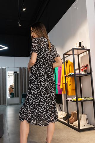 Платье шифоновое длиннее колена интернет магазин