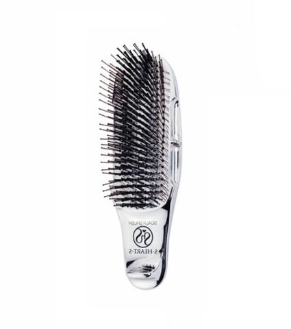 Расческа Scalp Brush Plus c удлиненной ручкой (серебро)