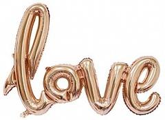 """Фигура-слово """"Love"""" розовое золото (воздух)"""