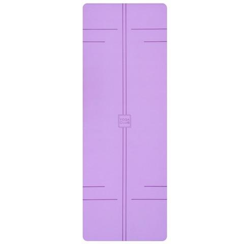 Каучуковый йога коврик YC Purple c разметкой 185*68*4,5 см