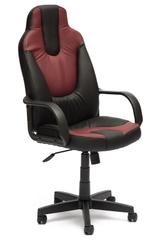 Кресло компьютерное Нео 1 (Neo 1) — черный/бордо (36-6/36-7)