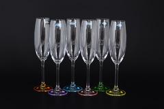 Набор из 6 цветных фужеров для шампанского Gastro Арлекино, 220 мл, фото 1