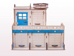 Супер гараж  с вертолетной площадкой.Размер: 50x52x40 см